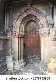 Ancient door at Roslyn chapel