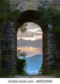 Ancient door village of Agropoli, Cilento coast, Italy