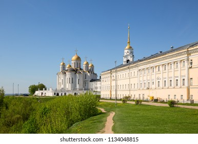 Ancient Dormition Uspensky Cathedral in Vladimir 12th century, Russia