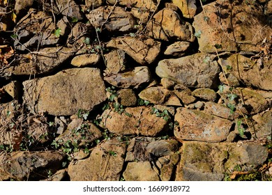 Ancient dry stone wall in Italy