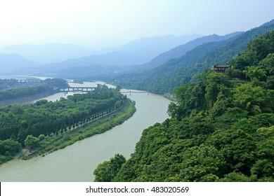ancient Dujiang Dam, Chengdu, China