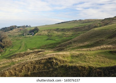 Ancient Earthworks on Cleeve Common, Gloucestershire