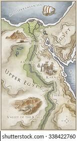 Ancient Egypt colour map
