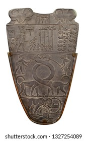 Ancient Egypt Narmer Palette. Verso side. Copy