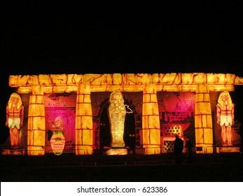 Ancient Egypt.Blackpool Illuminations Display.