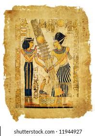 ancient egyptian papyrus parchment