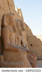 Ancient Egyptian Pharaoh Statues in Giza