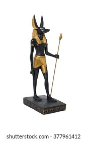 ancient Egyptian statue of Anubis