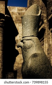 Ancient Egyptian statue depicting Horus