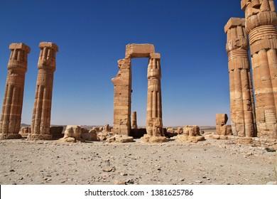 Ancient Egyptian temple of Tutankhamun in Nubia