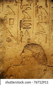 ancient Egyptian writing on stone