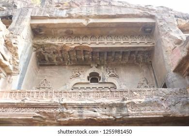 Ancient Ellora Caves in Aurangabad, Maharashtra, India
