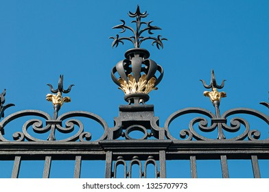 ancient forged iron fence