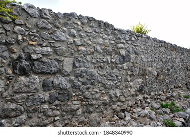 The ancient fortifications, called megalithic walls and datable not before the fifth century