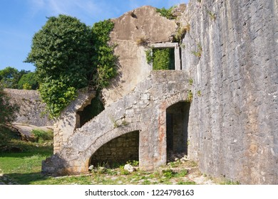 Ancient fortifications. Ruined fort. Montenegro .  View of Spanjola Fortress  ( Spanish fortress ) in Herceg Novi city
