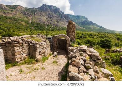 Ancient fortress of the goths Funa near Alushta in Crimea