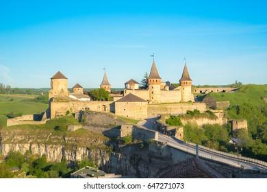 An ancient fortress of Kamyanets-Podolskiy, Ukraine.