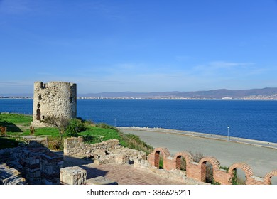 Ancient fortress in Nessebar, Bulgaria. UNESCO World Heritage Site