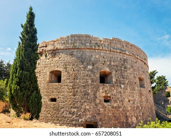 Ancient fortress on Lokrum Island, Dubrovnik, Croatia