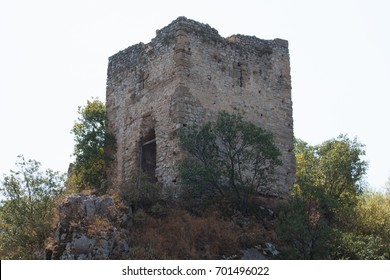 ancient fortress on a mountain