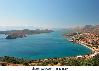 Ancient fortress of Spinalonga Island, Crete, Greece