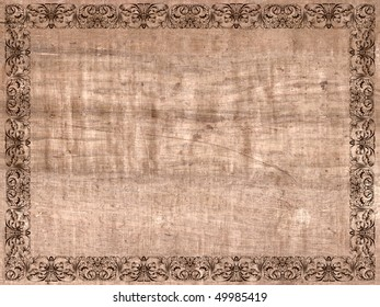 Ancient frame paper canvas cloth
