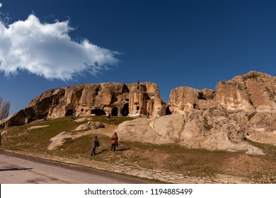 In the ancient frig valley; Rock church made in Byzantine period. Ayazini village of Afyonkarahisar, Turkey
