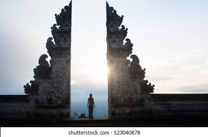 Ancient gates in pura Lempuyang ,Bali, Indonesia