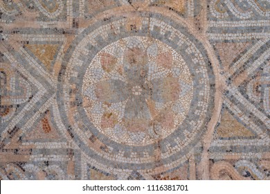 Ancient geometric pavement of a Roman urban road in Cordoba - Spain