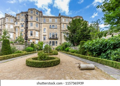 Ancient Georgian House and formal English garden in Bath, Somerset, UK