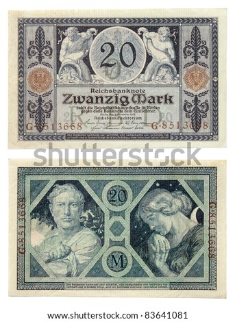 Ancient German Currency Notes Issued By Stock Photo Edit Now