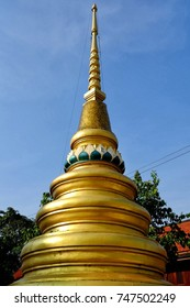 Ancient Golden Buddhist Pagoda.