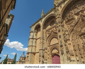 The ancient gothic cathedral in Salamanca, Spain