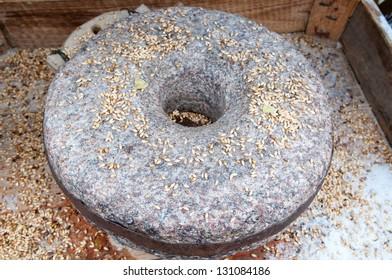 Ancient grain grinding millstones