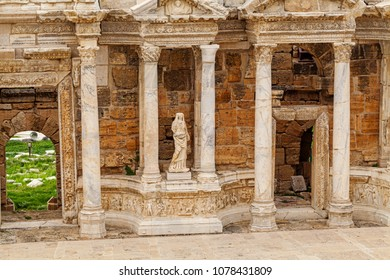 Ancient Greco-Roman Theater in ancient city Hierapolis near Pamukkale, Turkey