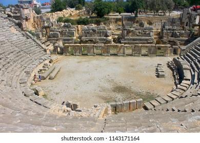 Ancient Greco-Roman Theater of Mira, Demre, Turkey