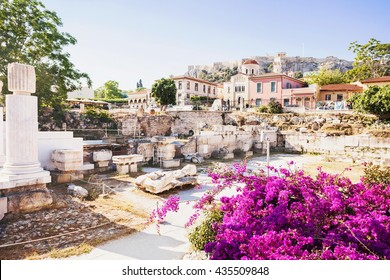 Ancient Greece, detail of ancient street, Plaka district, Athens, Greece