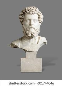 Ancient Greek bust sculpture portrait of a man