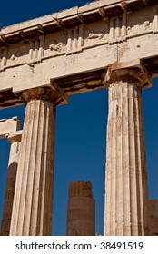 Ancient greek columns from the Parthenon