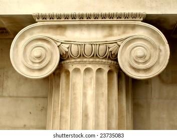 Ancient Greek ionic capital