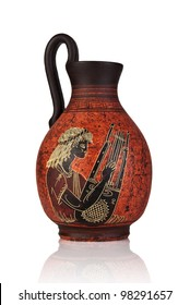 Ancient Greek jar with Apollo picture from 500-580 b.c.