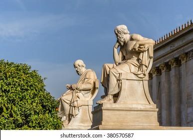 Ancient Greek Philosophers Plato and Socrates