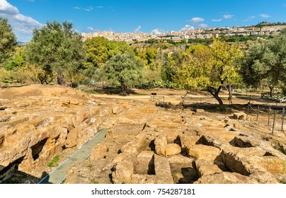 Ancient Greek Ruins in the Valley of the Temples near Agrigento - Sicily, Southern Italy