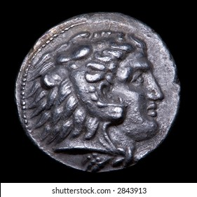 Ancient Greek Silver Coin with Alexander The Great