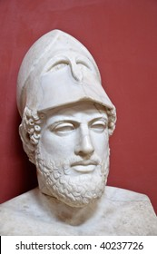 Ancient Greek statesman Pericles - marble portrait bust in Vatican