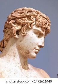 Ancient Greek Statue Profile Head