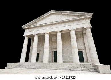 Ancient Greek temple isolated