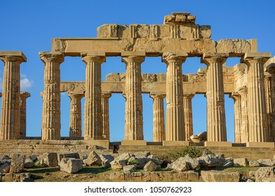 Ancient greek temple. Italy, Sicily