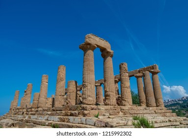 Ancient greek Temple of Juno in Agrigento, Sicily, Italy