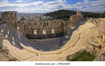 Ancient Greek theater in Athens/Odeon of Herodes Atticus